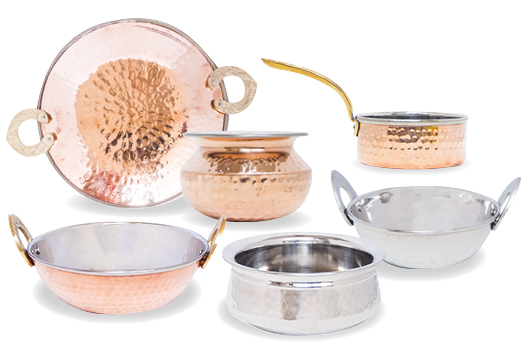 semart Copper and Stainless Steel Serveware